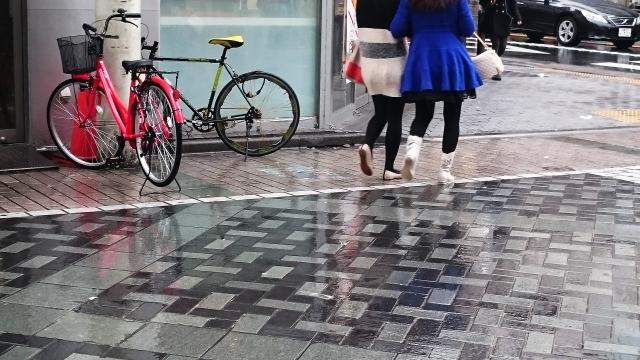 雨の日の自転車レインウェア
