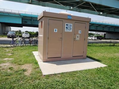 釣り場トイレと手洗い水道