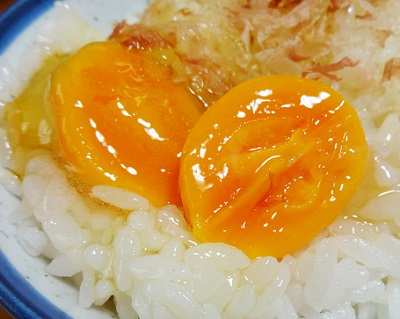 濃厚な黄身の冷凍卵