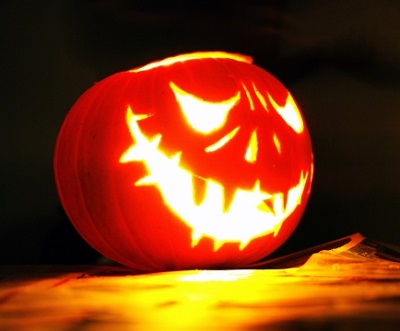 かぼちゃの顔の無料型紙