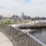 横浜鶴見川河口の貝殻浜でハゼ釣りと川遊び、近くの駐車場とトイレ