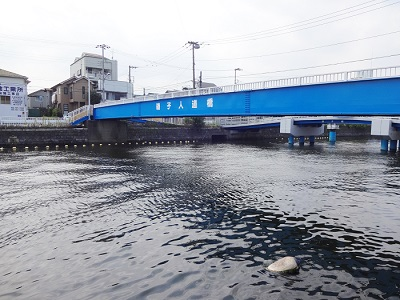 掘割川ハゼ釣りポイント磯子バス停付近