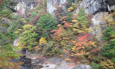 養老渓谷の紅葉狩り