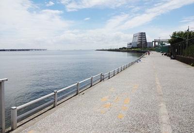 川崎浮島釣り公園の釣り場混雑状況