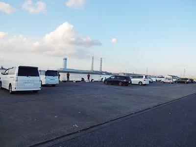 富津新港の釣り場混雑状況