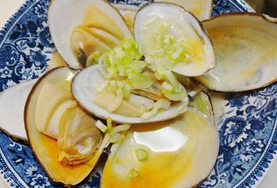 白貝の酒蒸しの作り方