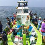 神奈川平塚港の浅八丸のライトルアー船で船釣り!レンタルで初心者にもおすすめ