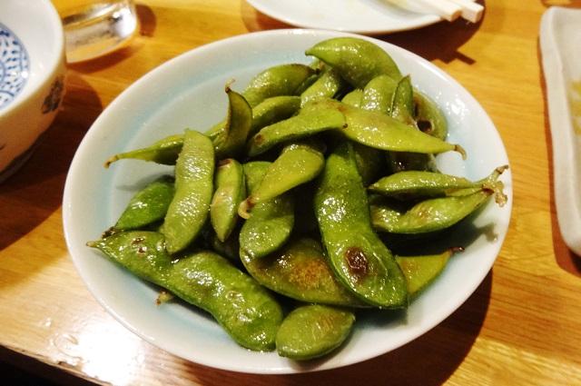 枝豆のオリーブオイル焼き
